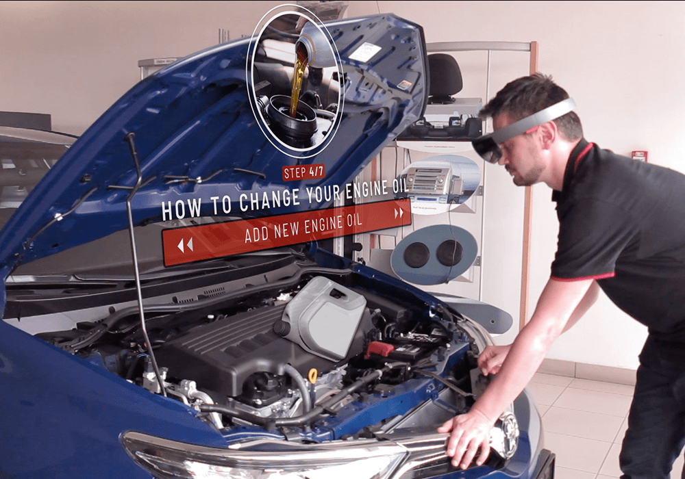 Automotive Industry with Mixed Reality - Maintenance