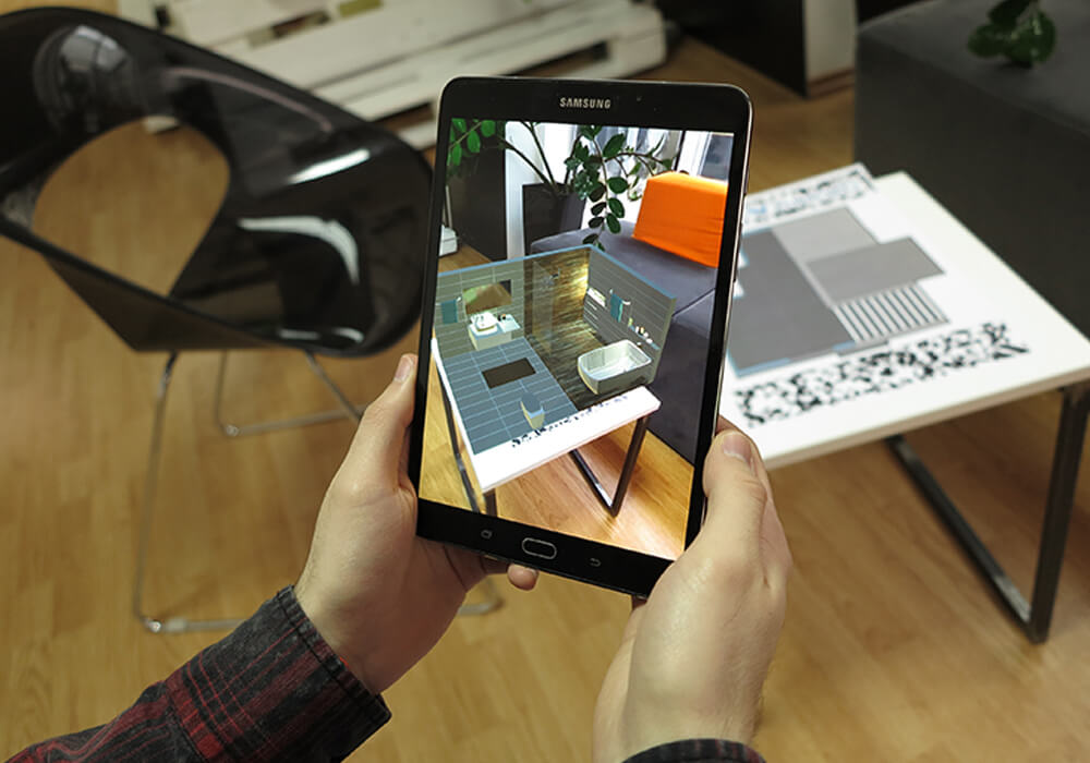 Augmented Reality Architectural Visualization - Interactive Prints Ex