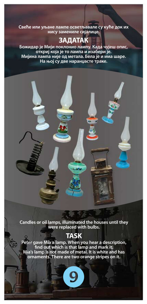 Click image and scan to discover old lamps!